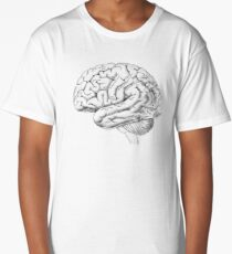 Watercolor Anatomical Brain Long T-Shirt
