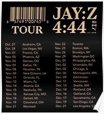 JAY-Z TOUR 2017 Poster