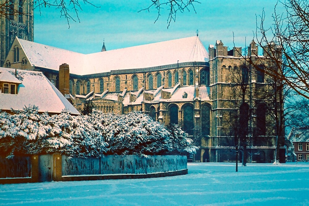 Canterbury Cathedral in Snow, early 1961 by Priscilla Turner