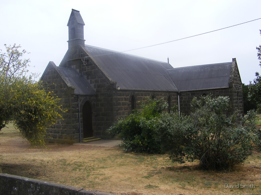 The blue stone Kirk at Lismore in Western Victoria by David Smith