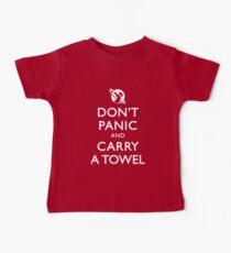 Don't Panic and Carry a Towel Kids Clothes