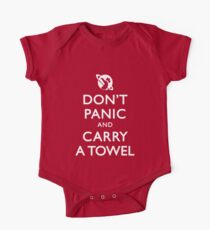 Don't Panic and Carry a Towel One Piece - Short Sleeve