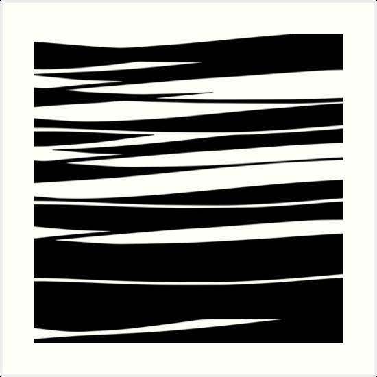 Organic No.9 Black & White by Menega  Sabidussi