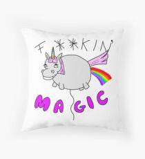 Sparkles the Inappropriate Unicorn Throw Pillow