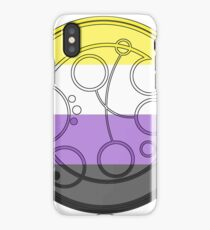 Circular Gallifreyan: Nonbinary iPhone Case/Skin