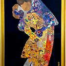 Klimt: THE KISS COLLAGE #2 by Pamela Spiro Wagner