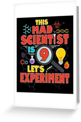 Funny 9 Year Old Scientist Birthday Science Geek Gift