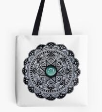 Bolsa de tela Mandala de mármol verde