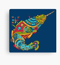Narwhal, cool art from the AlphaPod Collection Canvas Print
