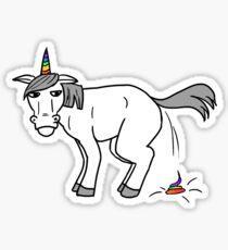 Poopin' Unicorn Sticker