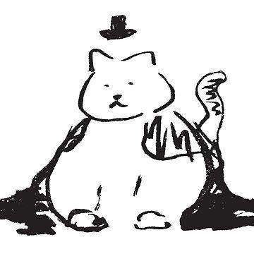 Fat Cat in Hat by ChiharuFinn