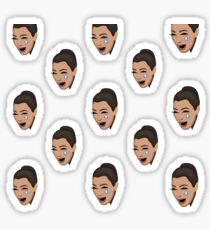 kim crying Sticker