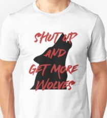 SHUT UP AND GET MORE WOLVES - proceeds to Breast Cancer Research Foundation Slim Fit T-Shirt