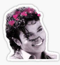 Michael Jackson Heart Crown Sticker Sticker