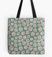 Red and Green Floral Tote Bag