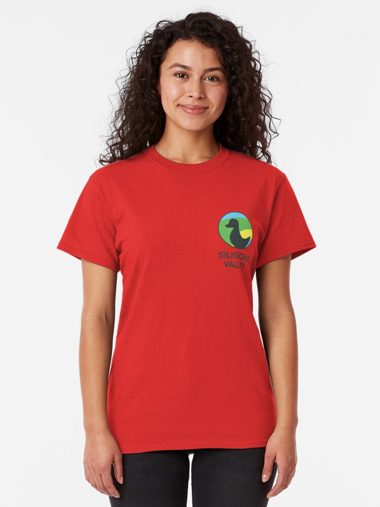 Alternate view of Siligong Valley logo w/text black Classic T-Shirt