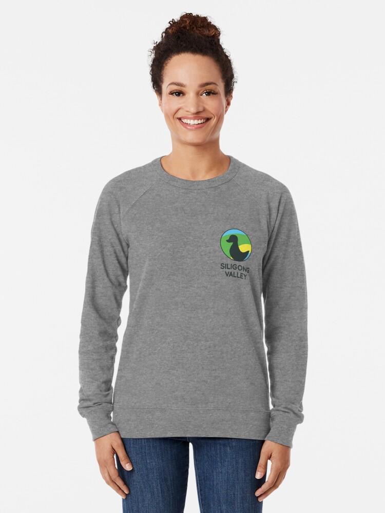 Alternate view of Siligong Valley logo w/text black Lightweight Sweatshirt