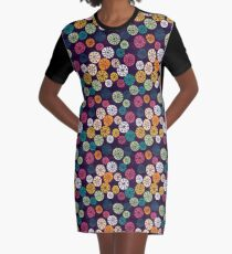 Snowflake cutouts Graphic T-Shirt Dress