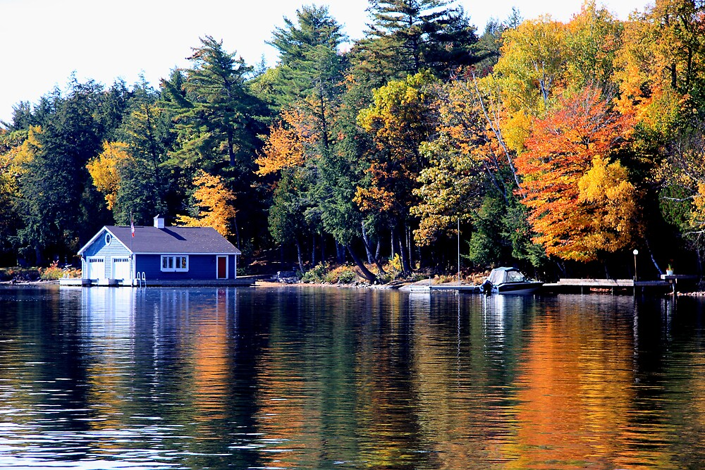 Boathouse at Lake of Bays by Dave Law