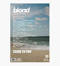Frank Ocean - Close To You Photographic Print