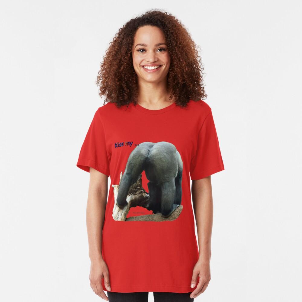 Kiss my .... Slim Fit T-Shirt