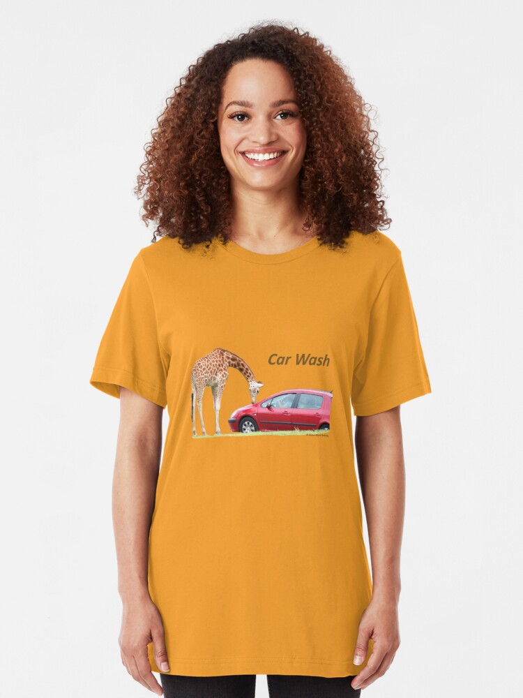 Alternate view of Car Wash!!!! Slim Fit T-Shirt