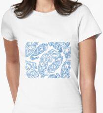 Cosmic Paisley lt blu Women's Fitted T-Shirt