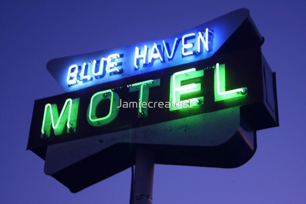 Blue Haven Motel Sign by Jamie Wogan Edwards