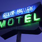 Blue Haven Motel Sign by Jamie Wogan Edwards