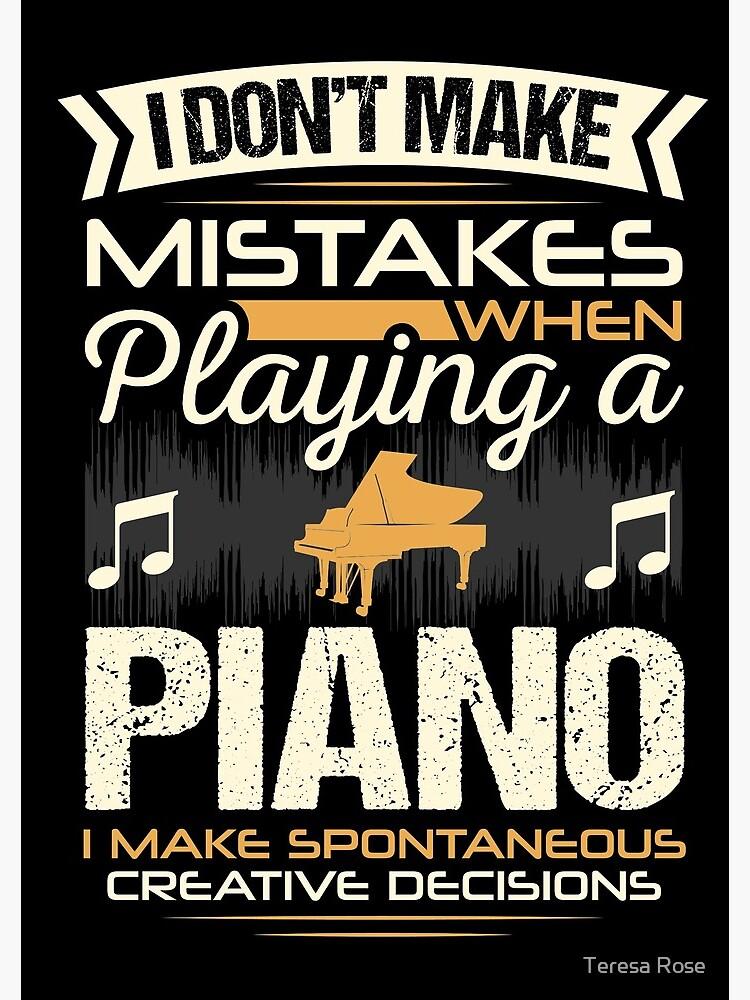Piano Player Mistakes by MusicReadingSav