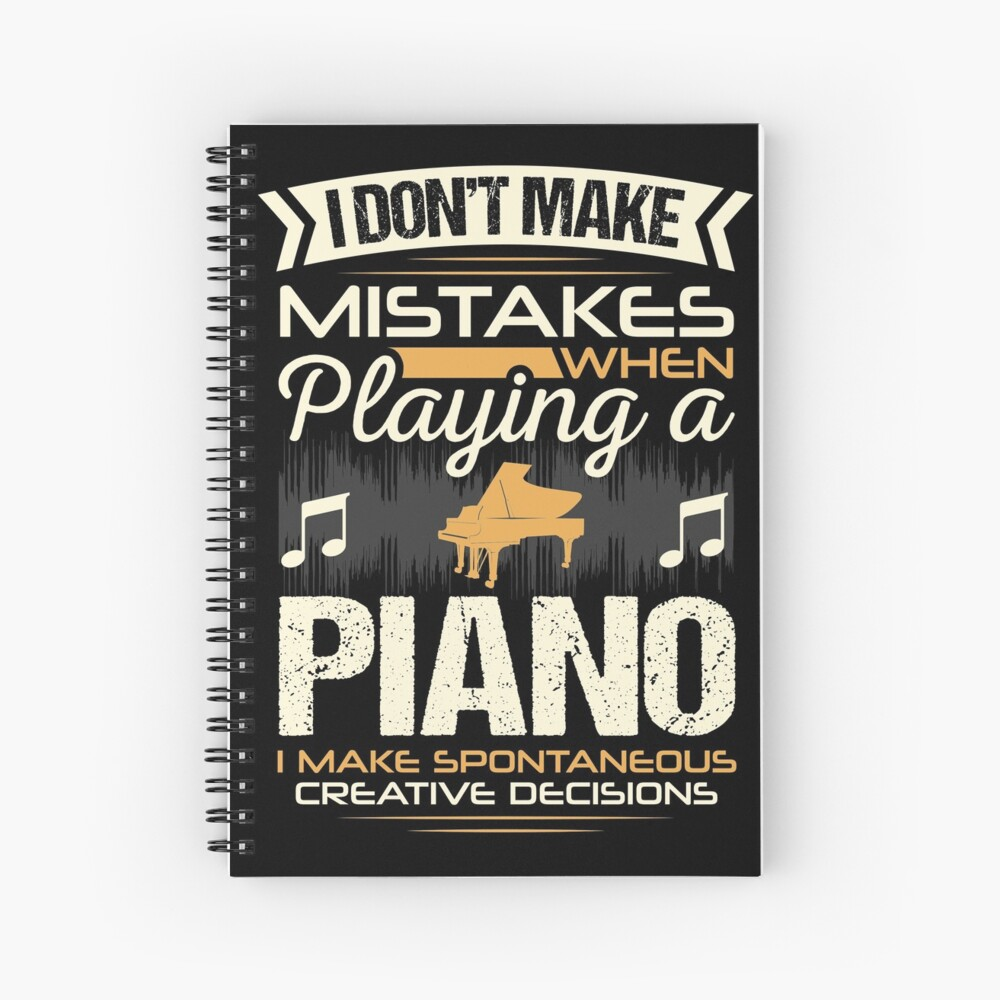 Piano Player Mistakes Spiral Notebook