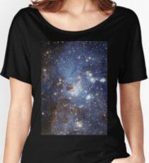 Blue Galaxy Women's Relaxed Fit T-Shirt