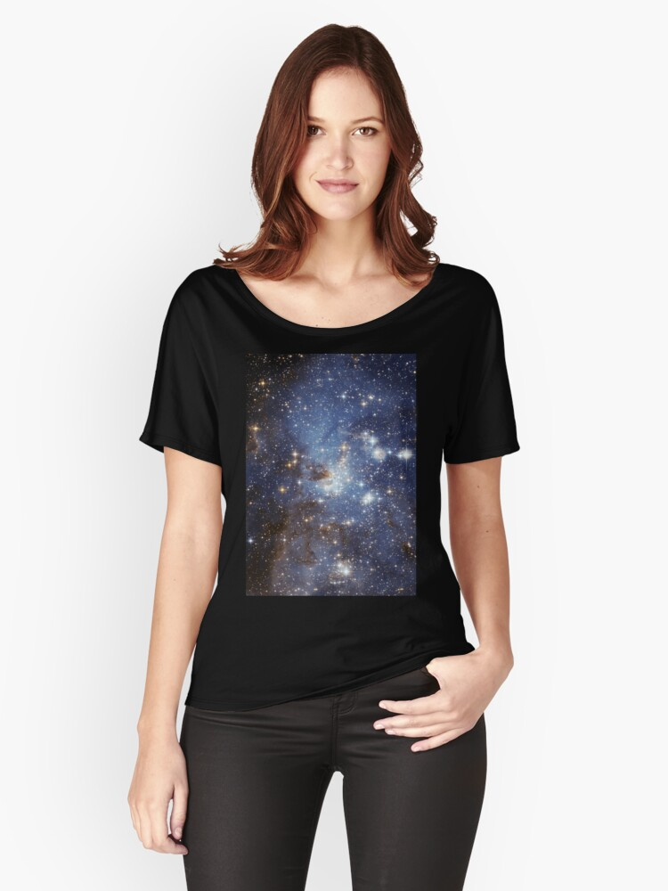 Blue Galaxy Women's Relaxed Fit T-Shirt Front