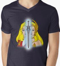 She-Ra Princess of Power - Adora/She-Ra/Sword - Color Men's V-Neck T-Shirt