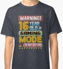 Lustige 16. Gamer Geburtstag 16 Jahre alte Gaming-Geschenke Classic T-Shirt
