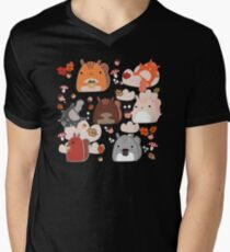 Kawaii Squirrels Men's V-Neck T-Shirt
