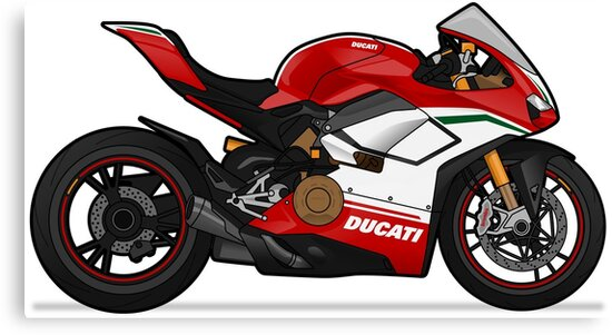 Ducati Panigale V4 Speciale Canvas Prints By Marlonvector Redbubble