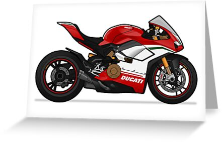Ducati Panigale V4 Speciale Greeting Cards By Marlonvector Redbubble