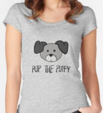 Pup the Puppy - Keiki Aloha Line Women's Fitted Scoop T-Shirt