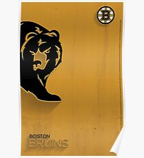 Boston Bruins Minimalist Print Poster