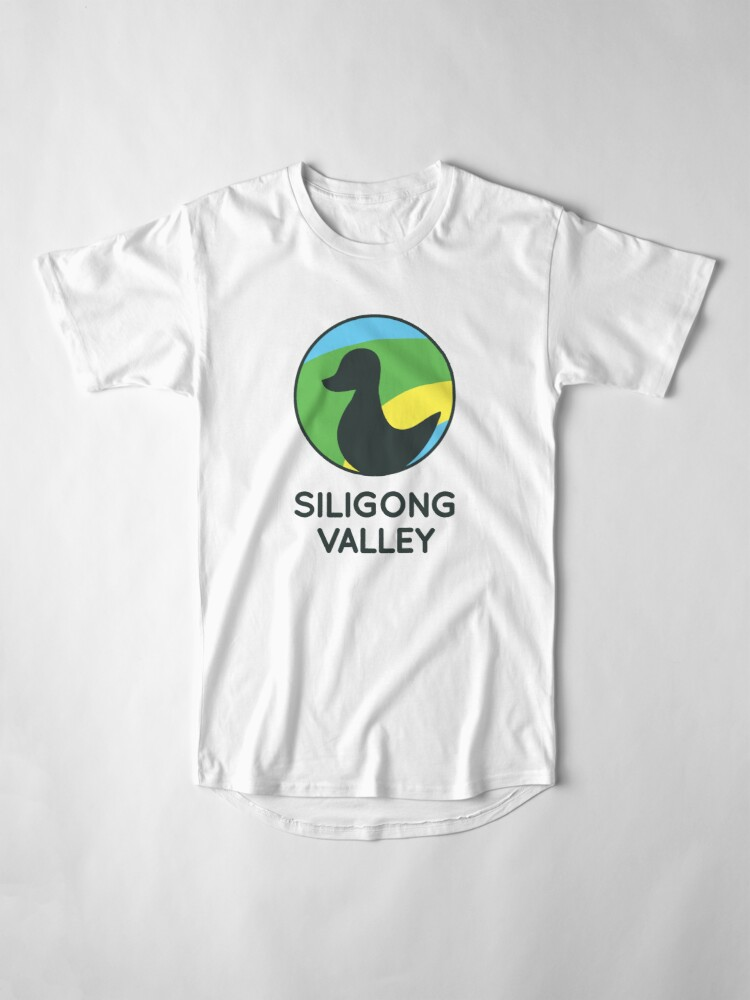 Alternate view of Siligong Valley logo w/text black Long T-Shirt