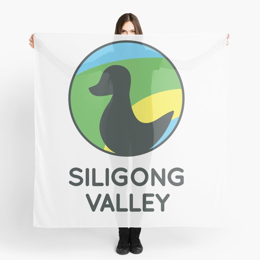 Siligong Valley logo w/text black Scarf