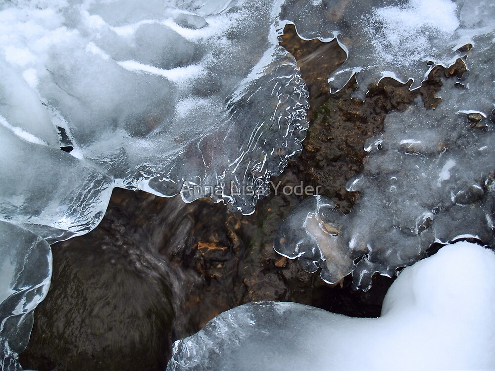 Icy Creek in Pocono Mountains by Anna Lisa Yoder
