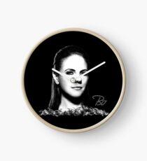 Bo in Black & White Clock