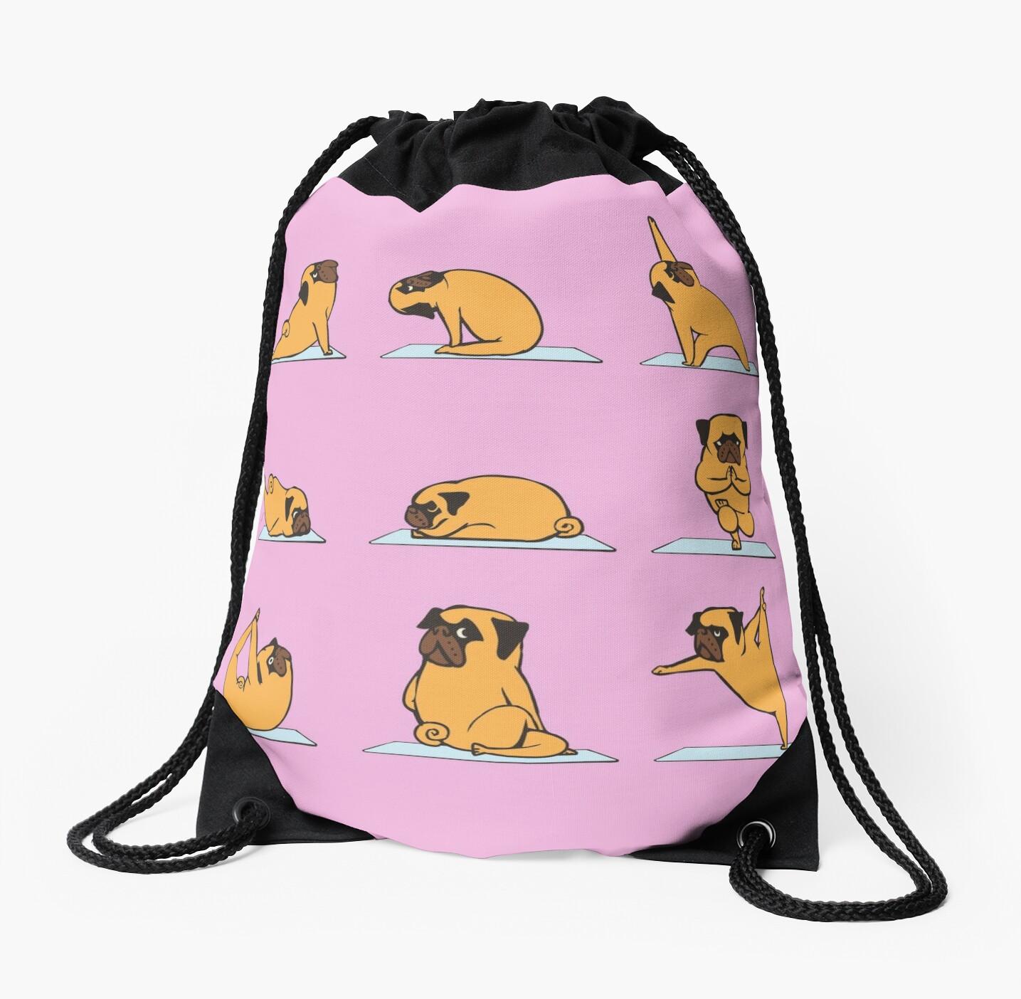 Pug Yoga    Pink