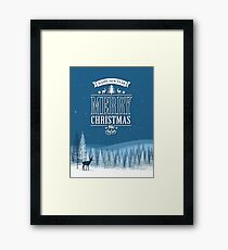 Frozen Christmas Holiday Framed Print