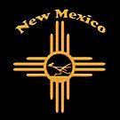 New Mexico Sunburst and Roadrunner by Walter Colvin