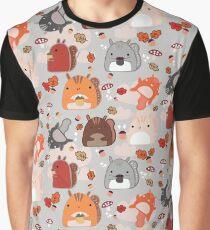 Kawaii Squirrels Graphic T-Shirt
