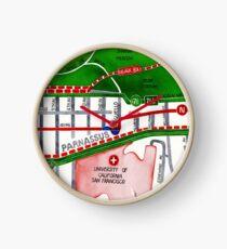San Francisco map - Inner Sunset map Clock