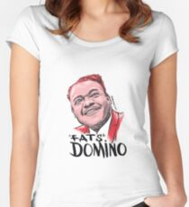 Fats Domino Women's Fitted Scoop T-Shirt